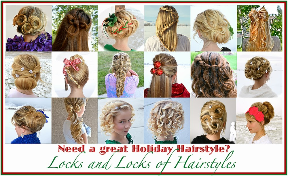 Christmas Hairstyles Easy.Locks And Locks Of Hairstyles Quick And Easy Video