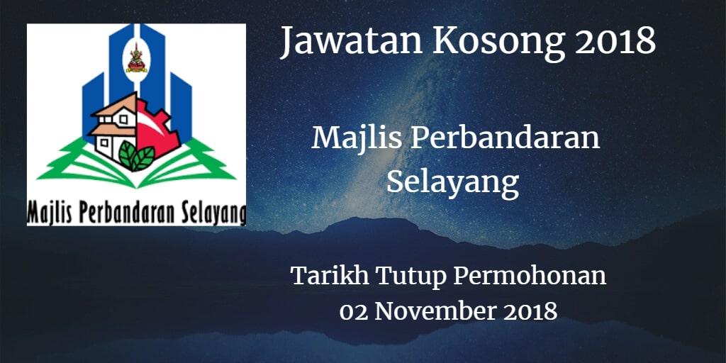 Jawatan Kosong MPS 02 November 2018