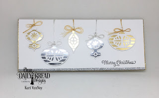 Our Daily Bread Designs Custom Dies: Retro Ornaments, Stamp/Die Duos: Merry Christmas