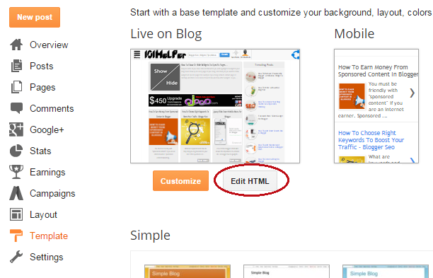 How to customize scrollbar in blogger 101helper how to edit template in blogger pronofoot35fo Images