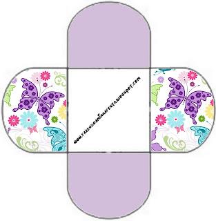 Fundo De Borboletas Coloridas Kit Completo Com Molduras Para