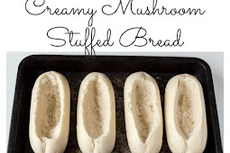 15 minute Creamy Garlic & Mushroom Stuffed Bread