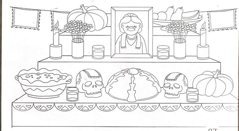 Dibujos para colorear día de los muertos