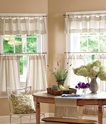 Welcome to Pretty Windows. We offer an Extensive Selection of Valances, Swags, & Curtains - including Exclusive Styles manufactured in our two USA sewing plants.