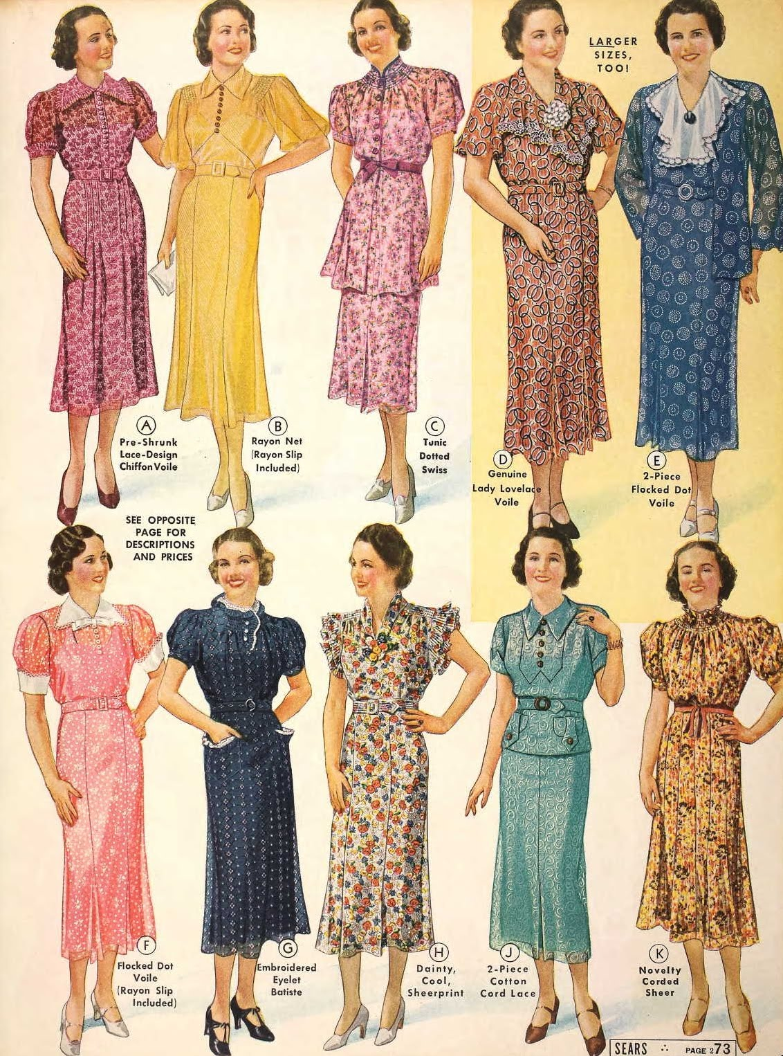 Snapped Garters: 1937 Fashions