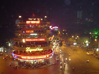 Overnight in Hanoi, Vietnam. Night view Hanoi, Vietnam