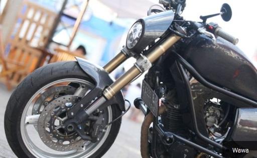 Modifikasi Yamaha Scorpio Ala Street Tracker