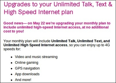 Unlimited Data Coming to T-Mobile's $50, $70 Monthly Prepaid