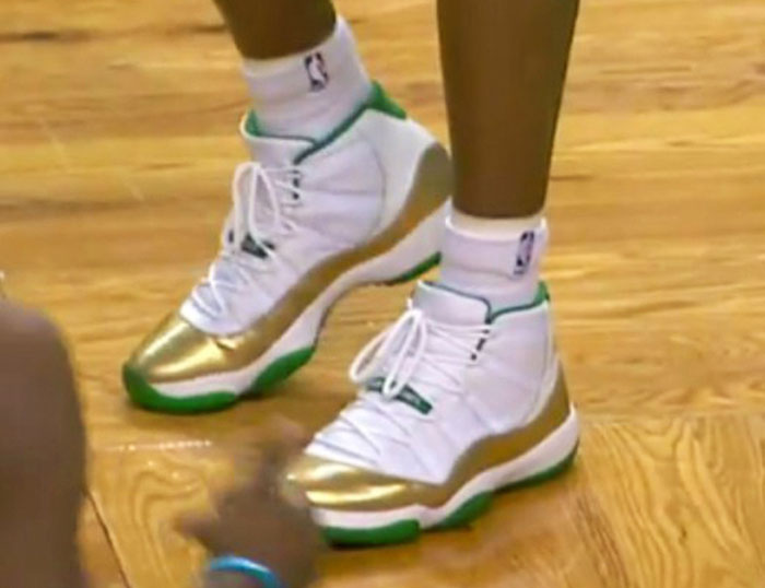 separation shoes b4b19 44fd9 ... uk air jordan 11 two rings ray allen pe painting air jordan23 celtics  away 2009 54579