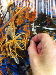 Image result for someone sewing a tapestry