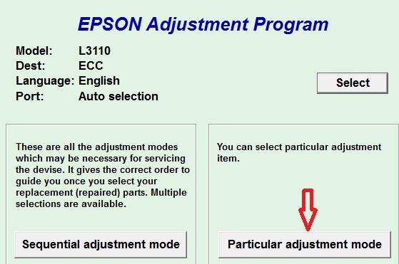 Reset Printer Epson l3110