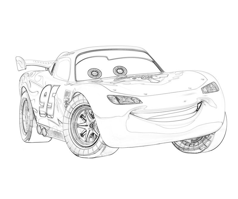 Cars 2 Coloring Pages: Lightning Mcqueen Drawing Pages (11 Image)