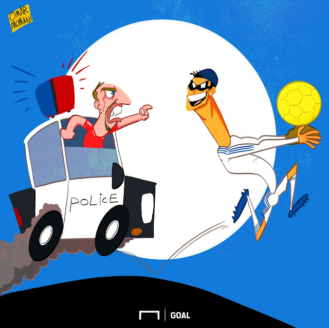 Ribery, Cristiano Ronaldo cartoon