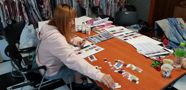 SALLY MAKING 2018 COLORS FOR ALL DESIGNS IN KOREA