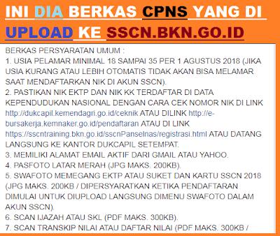 gambar BERKAS CPNS yang di upload ke sscn bkn go id