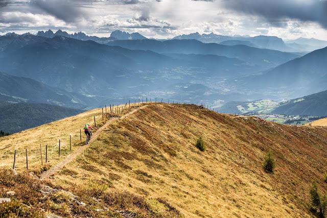 Mountainbike Trailabfahrt Kleingitsch Gitsch Brixen Südtirol