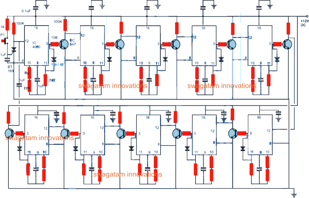 Automatic Programmable School Bell on initiating circuit diagram
