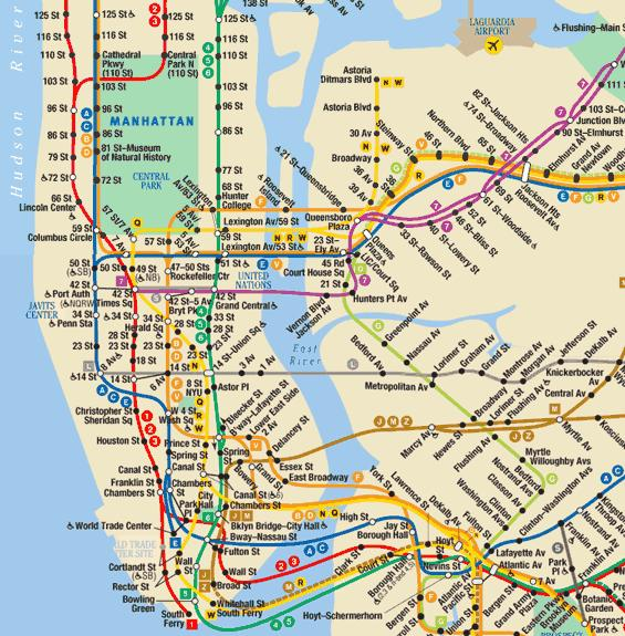 Download Subway Map Of Nyc.New York City Subway Map B Line Zaislai New York Subway Line 1 Map