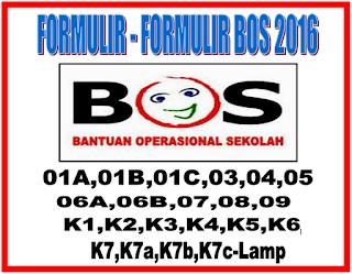 Formulir BOS K1, K2, K3, K4, K5, K6, K7 2017