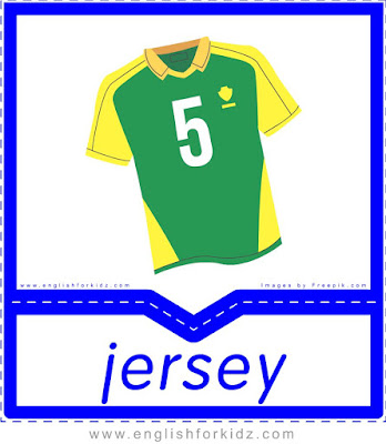 Jersey - English clothes and accessories flashcards for ESL students