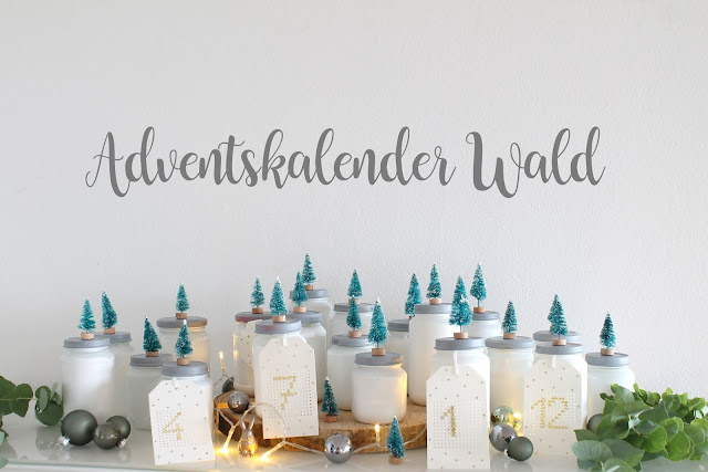 Adventskalender Upcycling Winterwald Jules kleines Freudenhaus