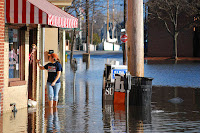 Businesses in Annapolis' City Dock neighborhood face dozens of days of nuisance flooding every year. A new study estimates the economic impact. (Credit: Matt Rath/Chesapeake Bay Program) Click to Enlarge.