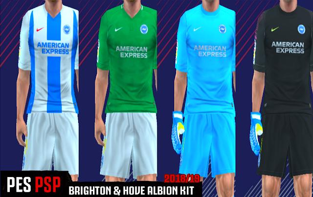3b81e558b Brighton   Hove Albion 18 19 Kits - PES PSP (PPSSPP)