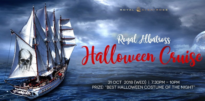 tall ship royal albatross halloween cruise promo