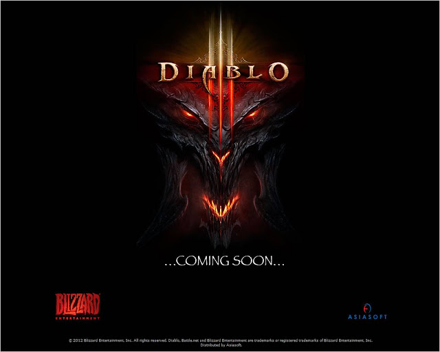 diablo 3's coming soon page on playpark asiasoft for south east asian region