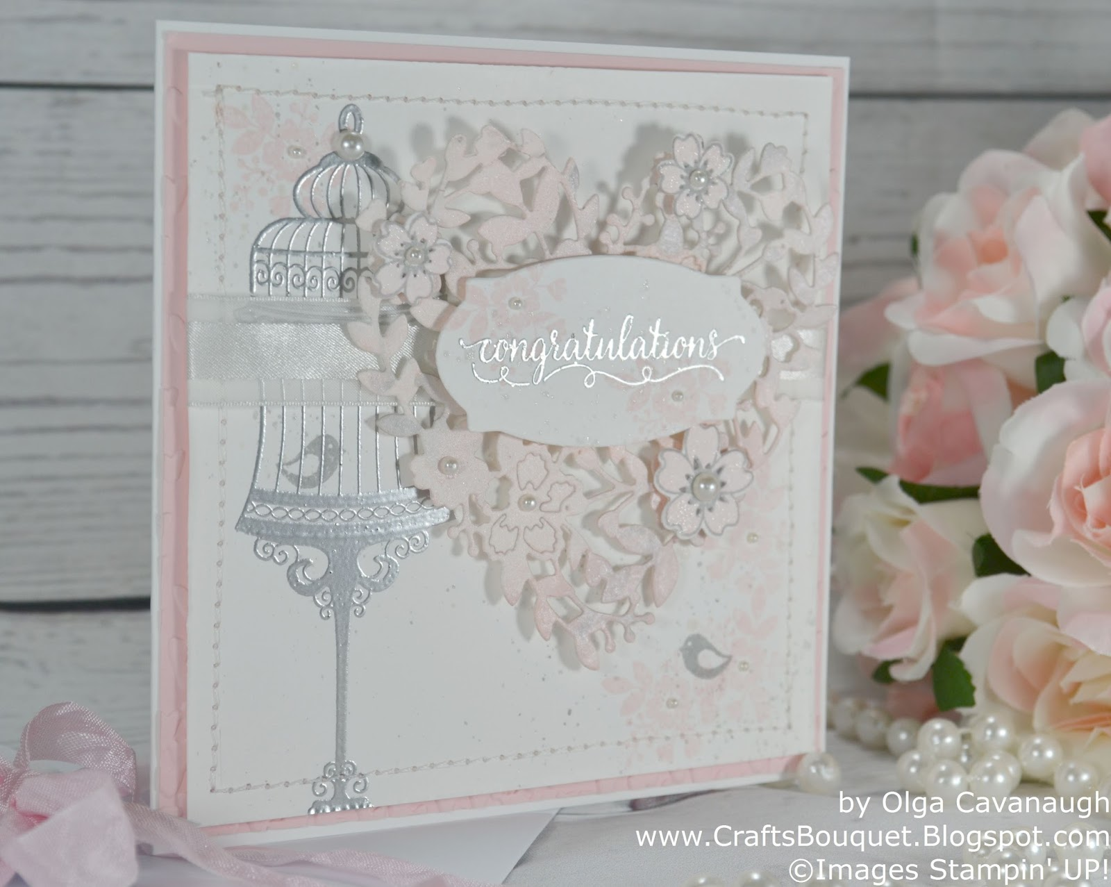 Crafts Bouquet Stampin Up Wedding Card