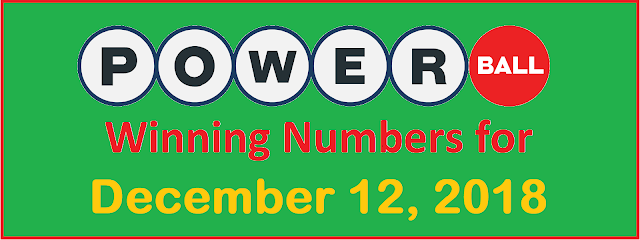 PowerBall Winning Numbers for Wednesday, 12 December 2018