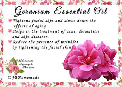 Geranium ♦Tightens facial skin and slows down the effects of aging ♦Helps in the treatment of acne, dermatitis and skin diseases. ♦Reduce the presence of wrinkles by tightening the facial skin