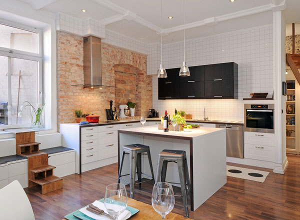 Hogares frescos 30 dise os de cocina con islas a adiendo Diseno de cocinas en espacios reducidos