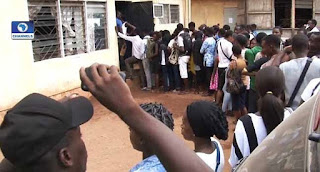 Stampede as JAMB Candidates protest against hectic registration procedures