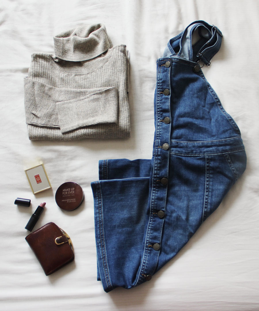 How to style a denim pinafore dress  www.itscohen.co.uk