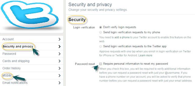 طريقة تفعيل التحقّق بخطوتين لحماية حساب تويتر Twitter Verification-Code