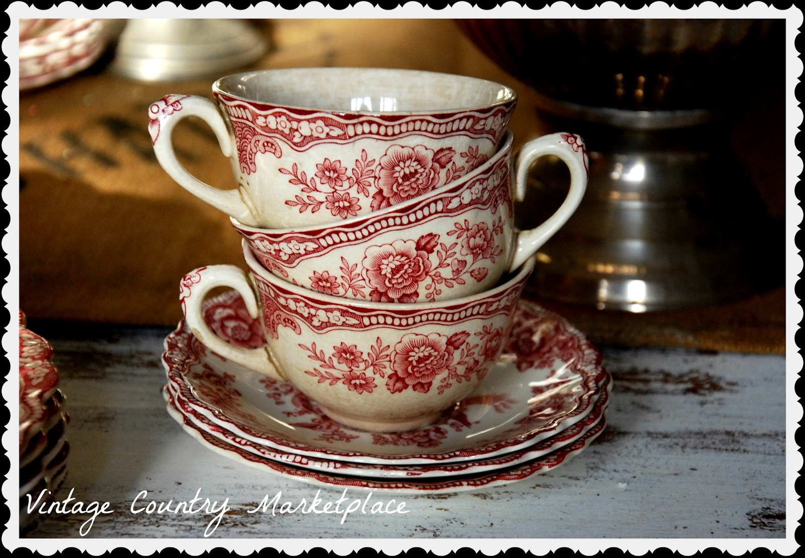 Vintage Country Style: Vintage Dishes Crown Ducal