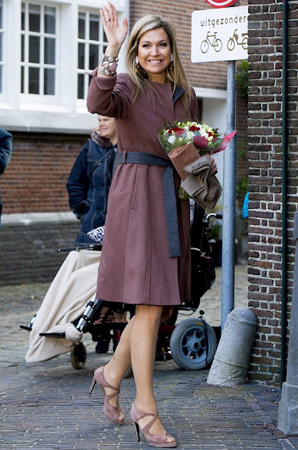 Queen Maxima of The Netherlands visit debt relief Buddy Netherlands (SchuldHulpMaatje Nederland), a national organization that helps people who have got into financial trouble