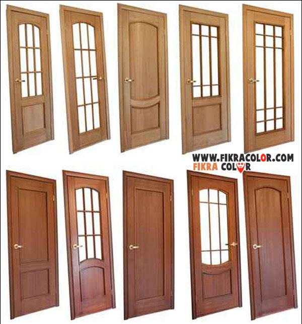 تصاميم مطابخ داخلية: ديكورات ابواب خشبية داخلية مع لون الفرنيش بتصاميم عصرية