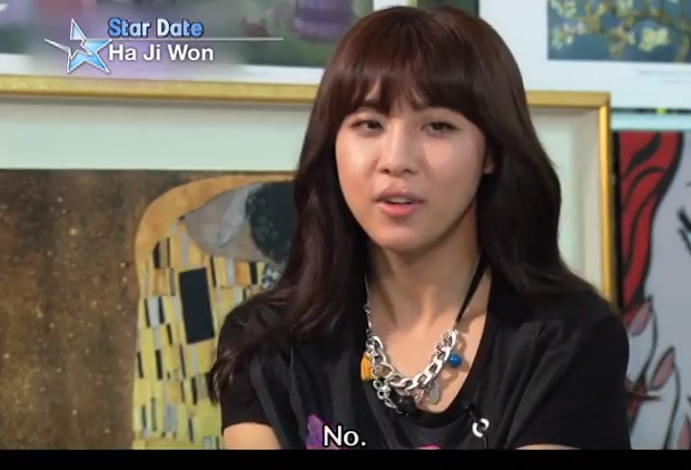 Ha Jiwon - No. I dont lie when they I ask me if I have a boyfriend