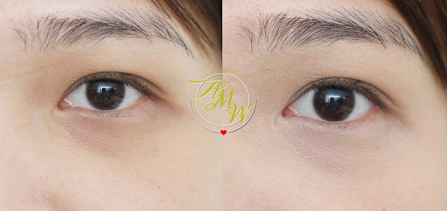 before and after photo of Tony Moly FACETONE Creamy Tip Concealer Review in shade P01 Pink Beige