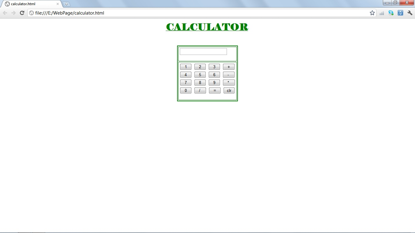 computer programming calculator implementation in html using  3 open the file using any of the web browsers