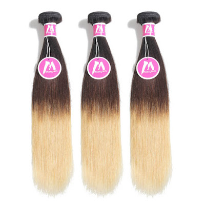 8A Premium Hair Weave Brazilian Hair Bundles Straight Hair Ombre-Price:$126.54 /piece (15%off)
