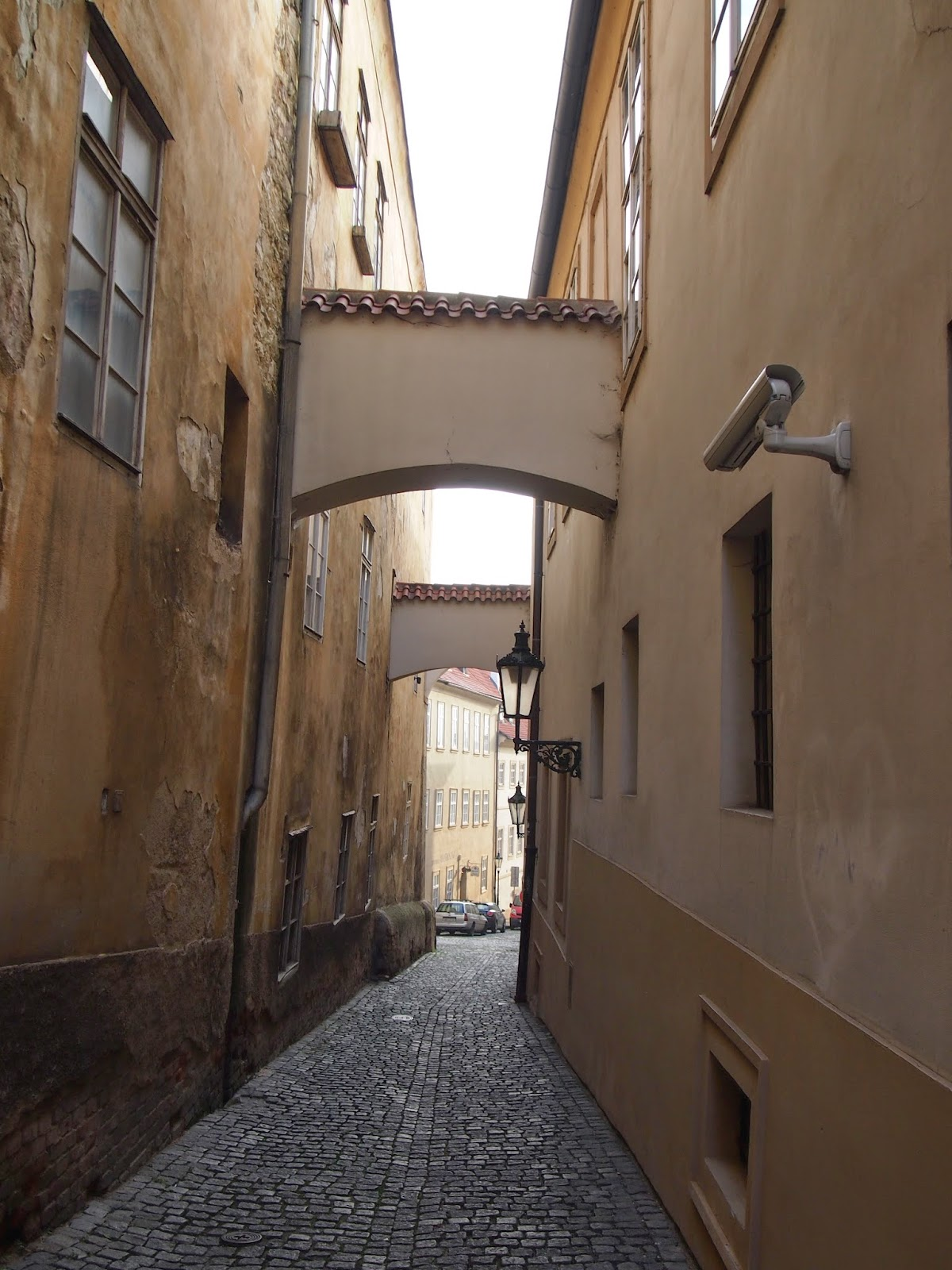 The narrow streets of Prague Old Town