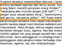 KPI tegur isi acara Damai Indonesiaku di TV One, duh kenapa ya?