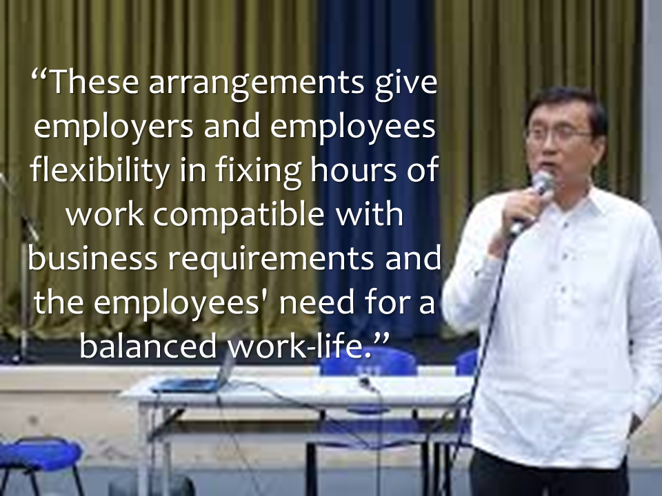 "A  4 day workweek is now a possibility after the House of Representatives approved  a bill that will allow employees to compress their daily work hours. House Bill 6152 is now approved on its third and final reading. The chamber said House Bill 6152 will institutionalize a compressed work week policy ""to promote business competitiveness, work efficiency and labor productivity."" Now , aside from the conventional 6 days work per week, an option of making it 4 days is now open. Under the new work week option, the employees can have 4 days work per week provided that they  will increase their daily working hours to 12 hours instead of the normal 8 hours.  The Labor Code requires employees to render 40 to 48 hours a week. Under the compressed work week, employees who worked for more than the required 48 hours will receive overtime pay. The employees are also entitled to up to three days off.  ""Advertisements"" The necessary implementing rules and regulations will be issued by the Secretary of Labor and Employment within 90 days of the law's implementation.   According to Baguio City Rep. Mark Go, one of the authors of the bill, said that there is an existing law that currently allows companies to go on a compressed work week schemes.            After being approved by the Congress,  The House and Representatives must present it together with the version from the Senate to be signed by President Rodrigo Duterte to make it into a law. ""Sponsored Links"" Read More:  A female Overseas Filipino Worker (OFW) working in Saudi Arabia was killed by an unknown gunman in Cabatuan, Isabela on Sunday. The OFW is in the country to enjoy her vacation and to celebrate her bithday with her loved ones. The victim's mother, Betty Ordonez, said that Jenny Constantino, 29, arrived in the country from Saudi Arabia for a vacation.         China's plans to hire Filipino household workers to their five major cities including Beijing and Shanghai, was reported at a local newspaper Philippine Star. it could be a big break for the household workers who are trying their luck in finding greener pastures by working overseas  China is offering up to P100,000  a month, or about HK$15,000. The existing minimum allowable wage for a foreign domestic helper in Hong Kong is  around HK$4,310 per month.  Dominador Say, undersecretary of the Department of Labor and Employment (DOLE), said that talks are underway with Chinese embassy officials on this possibility. China's five major cities, including Beijing, Shanghai and Xiamen will soon be the haven for Filipino domestic workers who are seeking higher income.  DOLE is expected to have further negotiations on the launch date with a delegation from China in September.   according to Usec Say, Chinese employers favor Filipino domestic workers for their English proficiency, which allows them to teach their employers' children.    Chinese embassy officials also mentioned that improving ties with the leadership of President Rodrigo Duterte has paved the way for the new policy to materialize.  There is presently a strict work visa system for foreign workers who want to enter mainland China. But according Usec. Say, China is serious about the proposal.   Philippine Labor Secretary Silvestre Bello said an estimated 200,000 Filipino domestic helpers are  presently working illegally in China. With a great demand for skilled domestic workers, Filipino OFWs would have an option to apply using legal processes on their desired higher salary for their sector. Source: ejinsight.com, PhilStar Read More:  The effectivity of the Nationwide Smoking Ban or  E.O. 26 (Providing for the Establishment of Smoke-free Environment in Public and Enclosed Places) started today, July 23, but only a few seems to be aware of it.  President Rodrigo Duterte signed the Executive Order 26 with the citizens health in mind. Presidential Spokesperson Ernesto Abella said the executive order is a milestone where the government prioritize public health protection.    The smoking ban includes smoking in places such as  schools, universities and colleges, playgrounds, restaurants and food preparation areas, basketball courts, stairwells, health centers, clinics, public and private hospitals, hotels, malls, elevators, taxis, buses, public utility jeepneys, ships, tricycles, trains, airplanes, and  gas stations which are prone to combustion. The Department of Health  urges all the establishments to post ""no smoking"" signs in compliance with the new executive order. They also appeal to the public to report any violation against the nationwide ban on smoking in public places.   Read More:          ©2017 THOUGHTSKOTO www.jbsolis.com SEARCH JBSOLIS, TYPE KEYWORDS and TITLE OF ARTICLE at the box below Smoking is only allowed in designated smoking areas to be provided by the owner of the establishment. Smoking in private vehicles parked in public areas is also prohibited. What Do You Need To know About The Nationwide Smoking Ban Violators will be fined P500 to P10,000, depending on their number of offenses, while owners of establishments caught violating the EO will face a fine of P5,000 or imprisonment of not more than 30 days. The Department of Health  urges all the establishments to post ""no smoking"" signs in compliance with the new executive order. They also appeal to the public to report any violation against the nationwide ban on smoking in public places.          ©2017 THOUGHTSKOTO Dominador Say, undersecretary of the Department of Labor and Employment (DOLE), said that talks are underway with Chinese embassy officials on this possibility. China's five major cities, including Beijing, Shanghai and Xiamen will soon be the destination for Filipino domestic workers who are seeking higher income. ©2017 THOUGHTSKOTO www.jbsolis.com SEARCH JBSOLIS, TYPE KEYWORDS and TITLE OF ARTICLE at the"