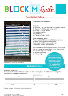 Regatta Quilt Pattern download