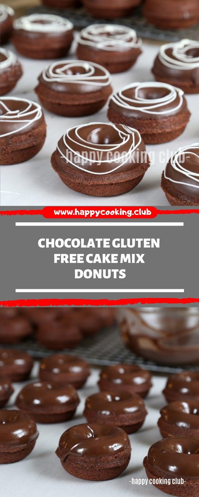 Chocolate Gluten Free Cake Mix Donuts