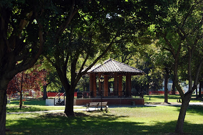 Franklin's Town Common on a summer day