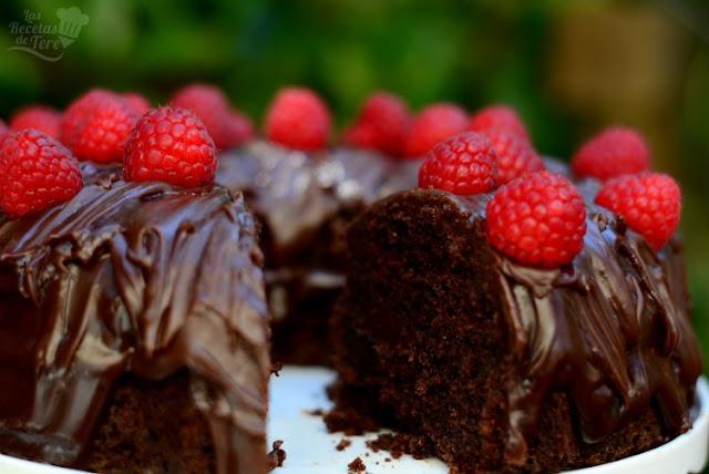 Receta casera de bizcocho doble muerte por chocolate 03
